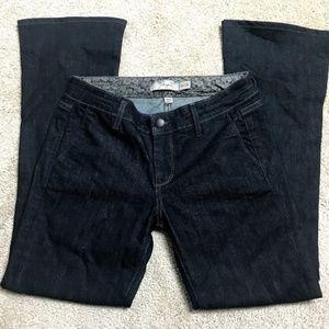 Paige Lou Lou Jeans Dark Wash Flare Jeans 27